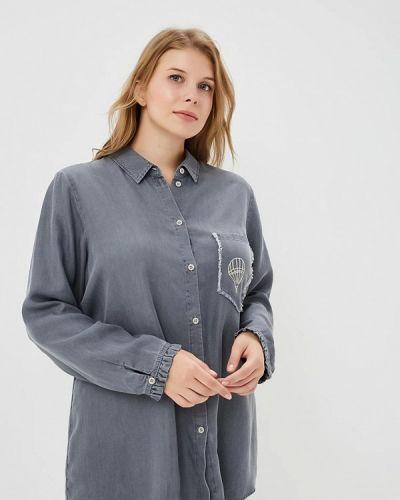 Серая рубашка Samoon By Gerry Weber