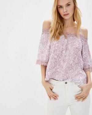 Блузка с открытыми плечами розовая весенний Baon