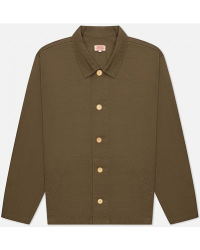Хлопковая зеленая куртка Armor-lux