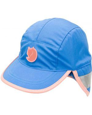 Niebieska czapka bawełniana z printem Acne Studios
