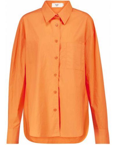 Оранжевая хлопковая рубашка Frankie Shop