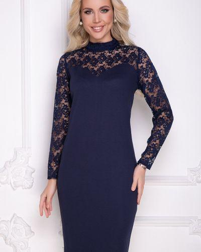 Кружевное нарядное с рукавами платье-футляр Bellovera