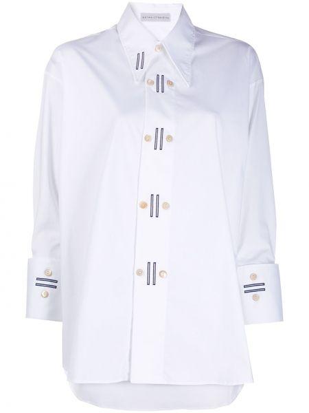 Белая рубашка с воротником на пуговицах двубортная Palmer / Harding