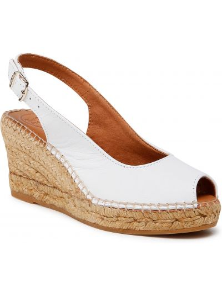 Sandały espadryle - białe Toni Pons