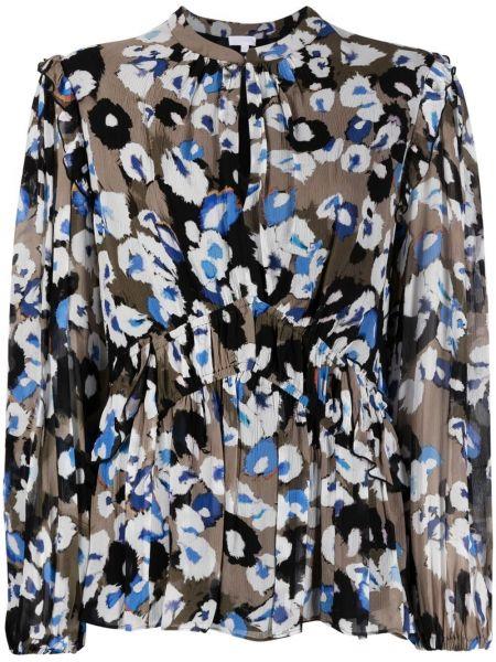 Коричневая блузка с вырезом эластичная Lala Berlin