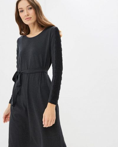 Платье для беременных серое осеннее Mama.licious