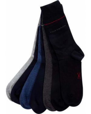 Prążkowane niebieskie skarpety bawełniane Tom Tailor