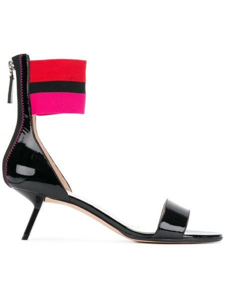 Кожаные лаковые черные кожаные туфли Alchimia Di Ballin
