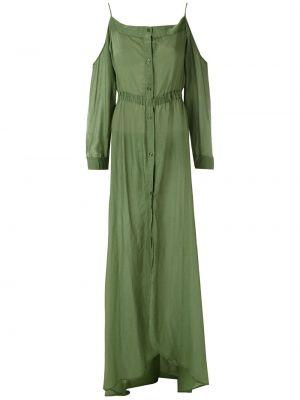 Sukienka dla wysokich kobiet zielona Amir Slama