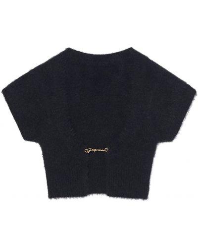 Укороченный топ - черный Jacquemus