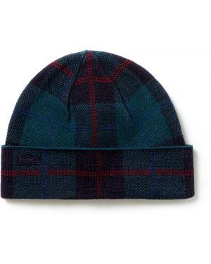 Вязаная шапка - синяя Lacoste
