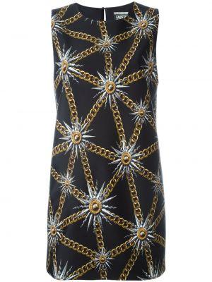 Платье с принтом - черное Fausto Puglisi