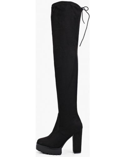 Черные сапоги осенние Sweet Shoes