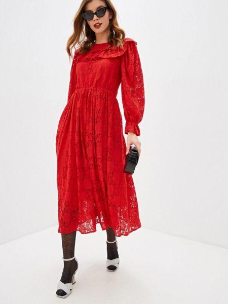 Вечернее платье осеннее красный Sister Jane