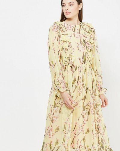 Платье миди осеннее желтый Èssmy