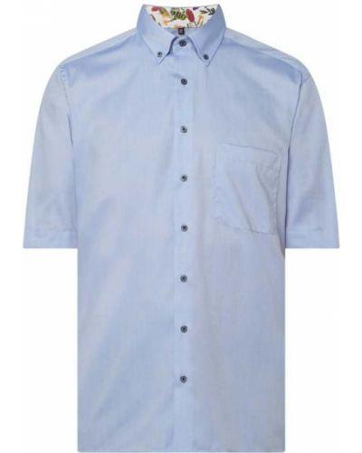 Niebieska koszula oxford krótki rękaw bawełniana Eterna