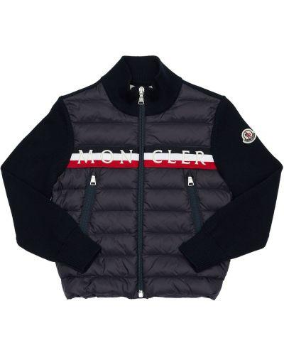 Z rękawami bawełna kurtka z kołnierzem z kieszeniami Moncler