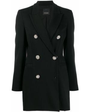 Классический пиджак черный в полоску Pinko
