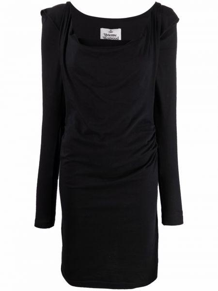 Черное хлопковое платье макси Vivienne Westwood
