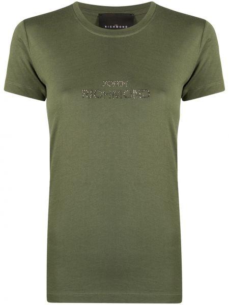 Хлопковая футболка - зеленая John Richmond