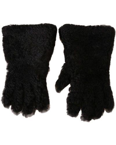 Ciepłe czarne rękawiczki na co dzień Dolce And Gabbana