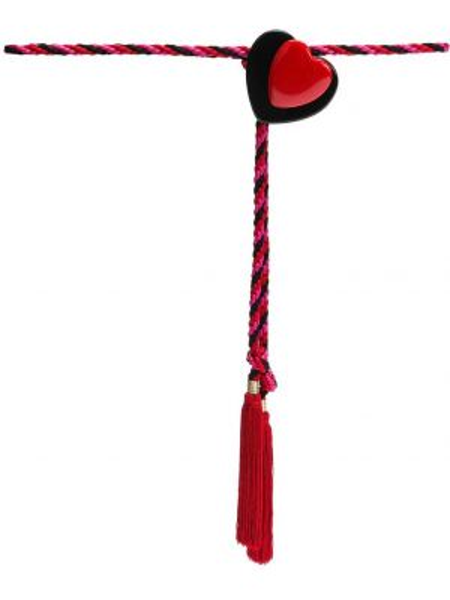 Красный плетеный ремень металлический Philosophy Di Lorenzo Serafini