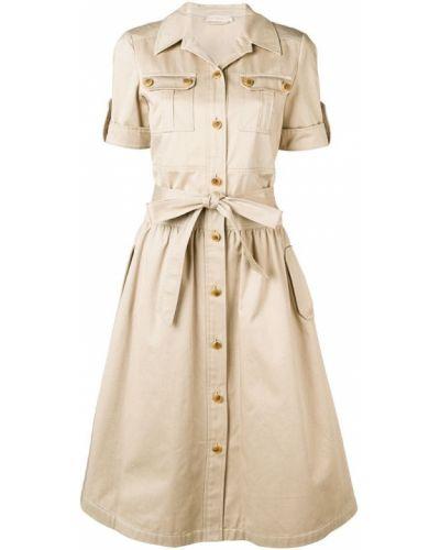 Платье мини на пуговицах сафари Tory Burch