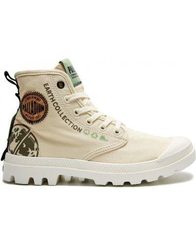 Текстильные бежевые ботинки с подкладкой Palladium