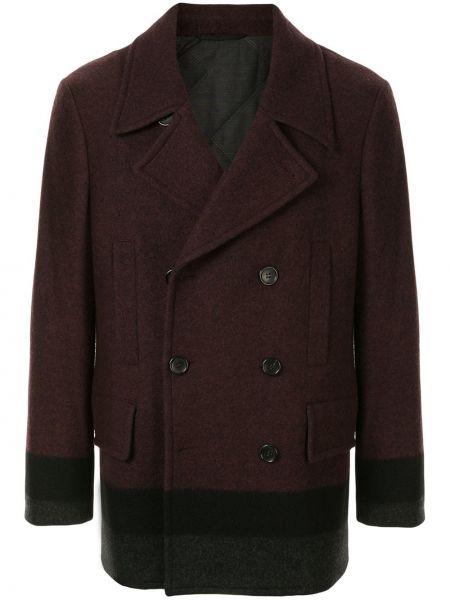 Шерстяное прямое длинное пальто на молнии с карманами Cerruti 1881