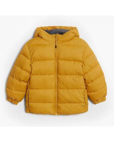 Теплая желтая куртка Mango Kids