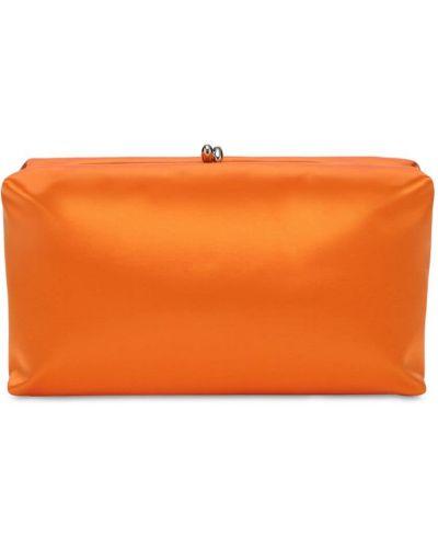 Pomarańczowa kopertówka skórzana Jil Sander