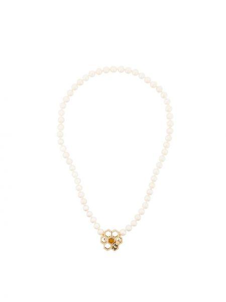 Czarny złoty naszyjnik perły Delfina Delettrez