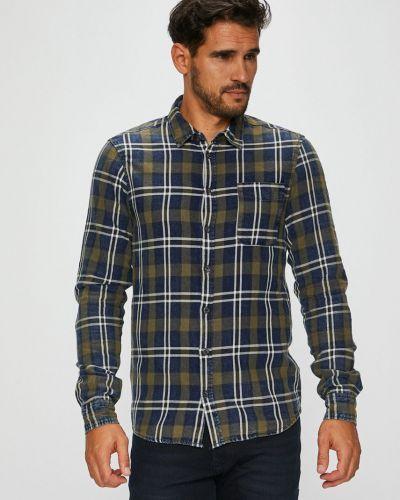 Рубашка с длинным рукавом в клетку хлопковая Blend