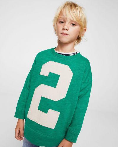 Зеленая кофта Mango Kids