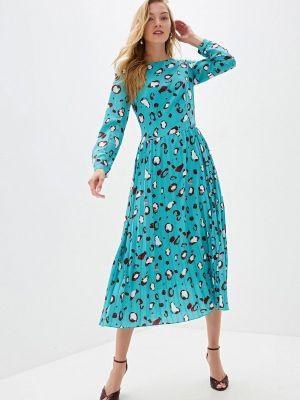 Повседневное платье осеннее зеленый Cavo