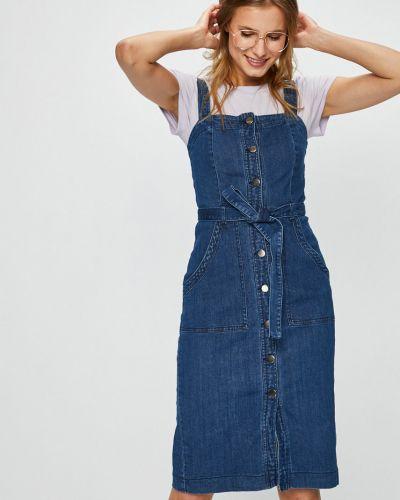 Платье миди джинсовое облегающее Vero Moda