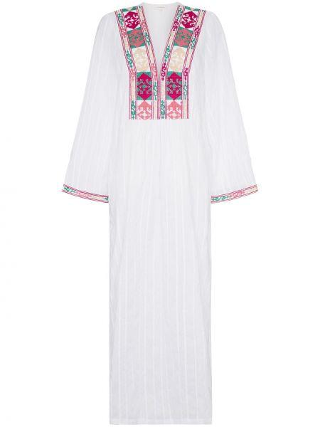 Свободное платье макси с вышивкой с вырезом Celia Dragouni