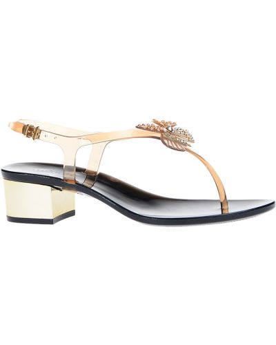 Босоножки на каблуке бежевые Menghi