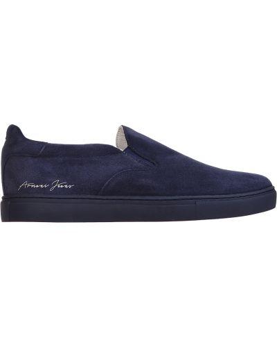 Слипоны спортивный замшевые Armani Jeans