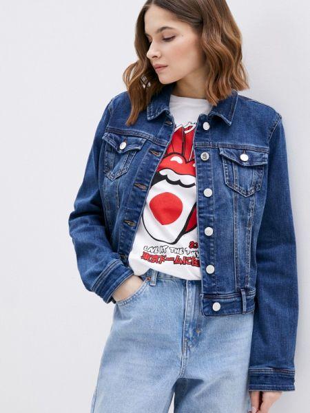 Джинсовая куртка весенняя синий Morgan