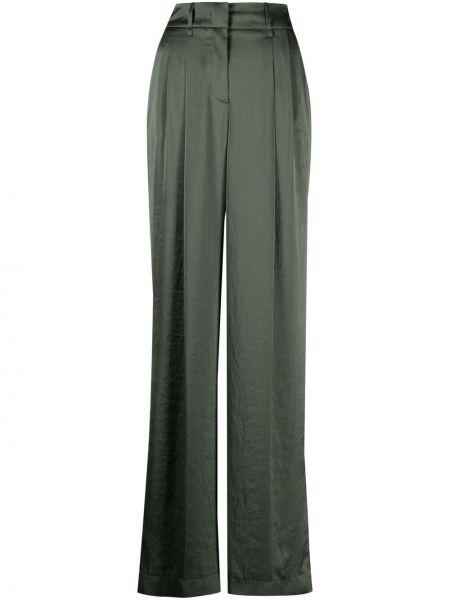 Зеленые с завышенной талией брюки свободного кроя Luisa Cerano