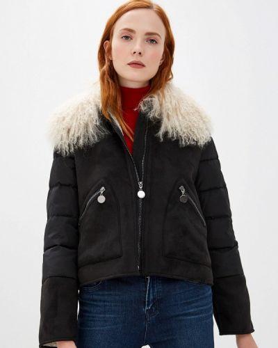 Утепленная куртка демисезонная черная Pennyblack