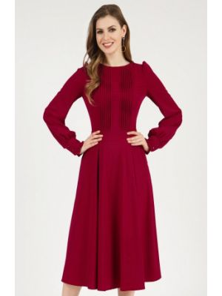 Бордовое повседневное платье Olivegrey