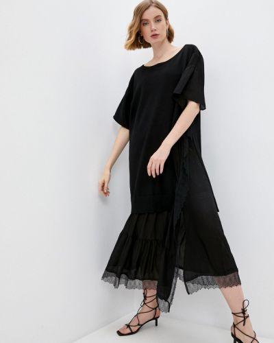 Повседневное черное платье Twinset Milano