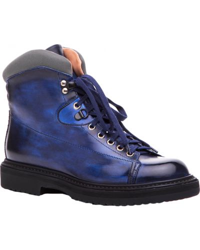 Ботинки на каблуке осенние кожаные Santoni