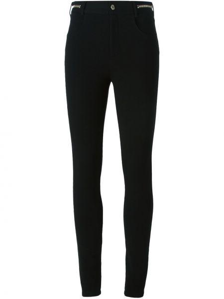 Spodnie rurki srebrne - czarne Givenchy
