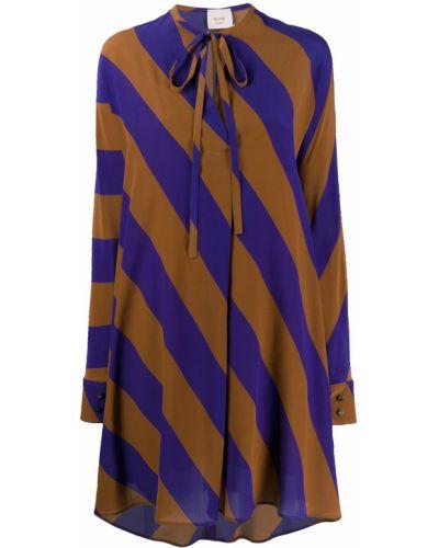 Платье макси в полоску платье-рубашка Alysi