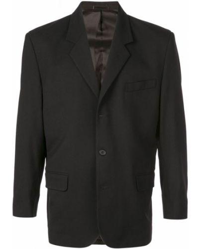 Черный пиджак свободного кроя Second/layer
