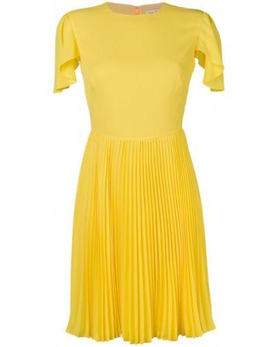 Платье мини короткое - желтое Mulberry