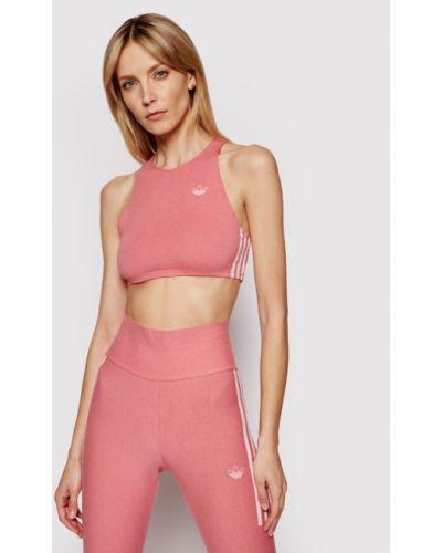 Różowy top Adidas
